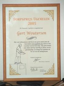 Dorpsprijs 2005 Oorkonde Gert Woutersen - klein