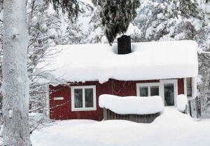 Winter huisje
